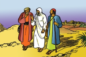D'aabhîlû ya sehemwaa B ♦ Yîîsu Awabarsiisa Sawera Waîlî [Introduction to Part 2 ▪ Picture 13. Jesus Teaches Two Friends]