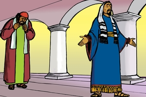 Dos hombres en la casa de Dios [Picture 19. Two Men in God's House]
