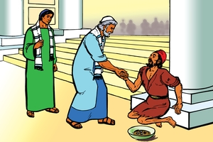 Undondo Undemale Ikubumbulusigwa [Picture 5. A Crippled Beggar is Healed]