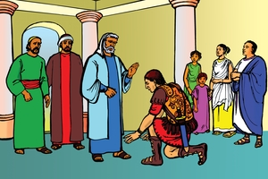 絵 10 - Acts 10:1-8, 17-48 (Peter and the Romans)