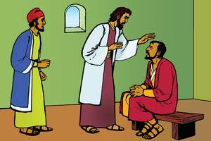 Picture 14: Blind Paul and Ananias; - Acts 9: 10-20