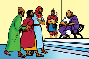 Picture 20: Paul is Taken to Court; - Acts 18: 1-17