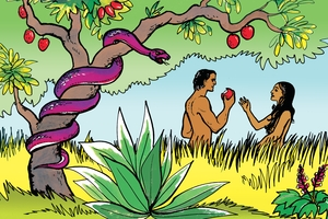 Larawan 3. Satan Tempts Adam and Eve