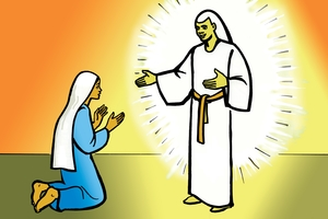 Picture 7. The Angel Speaks to Mary