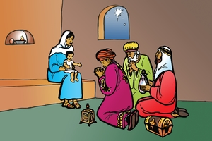 Larawan 13. The Visit of the Wise Men