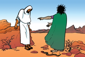 Picture 17. Jesus Tested by Satan