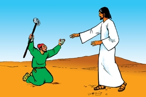 Picture 26. Jesus Touches a Man with Leprosy
