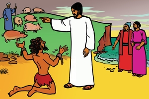 Larawan 47. Jesus Heals a Man with Many Demons