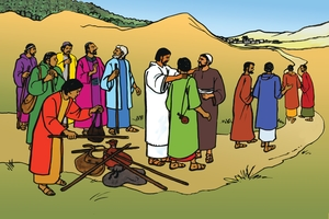 Larawan 50. Jesus Sends Out the Twelve Disciples