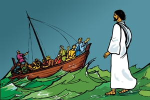 絵 52. Jesus Walks on the Water