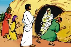 Picture 79. Jesus Raises Lazarus from Death