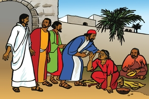 Picture 86. A Blind Beggar Healed at Jericho