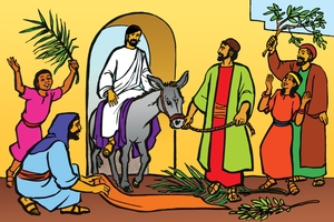 Picture 88. Jesus Enters Jerusalem