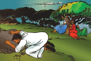 Bild 102. Jesus Prays in Gethsemane