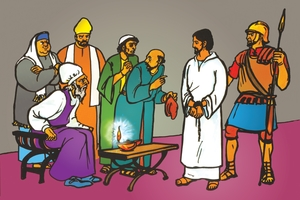 Picture 104. Jesus Tried Before the High Priest