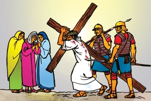 Jesu Yotangetetwe Okamungongotela (絵 107. Jesus Led Out to be Crucified)