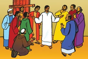 Jesu aba Nakumonaalisa kwa Iyetwi Aye (絵 114. Jesus Appears to His Disciples)