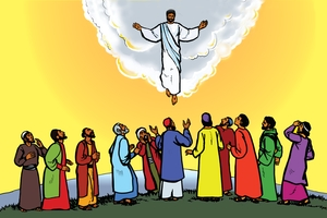 Jesu aba Nashimbeliwa Kuwilu (絵 118. Jesus Ascends into Heaven)
