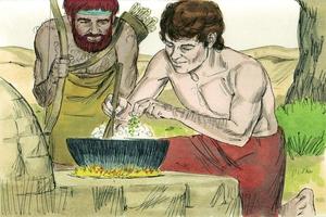 Esau and Jacob, Genesis 25:19-34