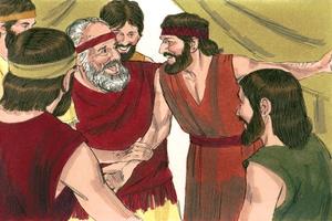 Genesis 45:25-46:30, 50:15, 21; เพลง