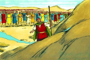 Ekesodo Chapta 17:1-7, !Qaa i ba !ona ke !hom ǂqala [Exodus 17:1-7, Water comes from the rock]