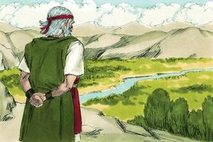 Deuteronomy 32:45-52, John 14:1-3; There's a Land Fairer