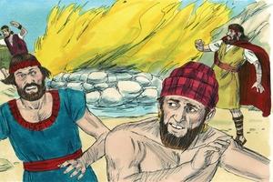 1 ǁ'aixamate Chapta 18:17-39, Porofite Elija tu ǂ'e Porofitite Baale ǀinnya [1 Kings 18:17-39, Elijah and the Baal Prophets]