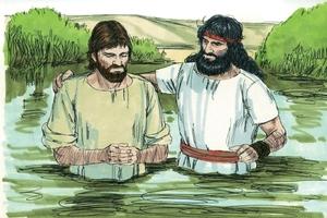 John Baptised Jesus, Matthew 3:13-17