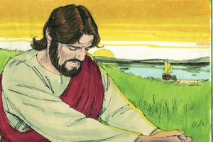 Mathaio Chapter 6:7-13, Jesu E !ho ku ka ǀXobesa [Matthew 6:7-13, Jesus Teaches them to Pray]