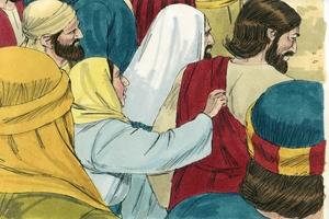 Iroka 8:40-56 Yeso Yairo bide nadafimatasai. [Luke 8:40-56 Jesus heals a woman and a girl]