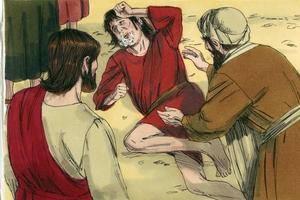 Iroka 9:37-43 Enemede yama inawari kiai, Yeso hikasomai, hinasaowai. [Luke 9:37-43 The cure of a boy]