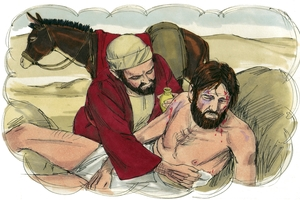 Luke 10:25-37, Daqha ke Samaria ǀe taa [Luke 10:25-37 The Parable Of The Samaritan]