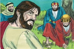 Iroka 22:47-53 Yeso Yodasi me wara hiai. [Luke 22:47-53 Jesus is arrested]