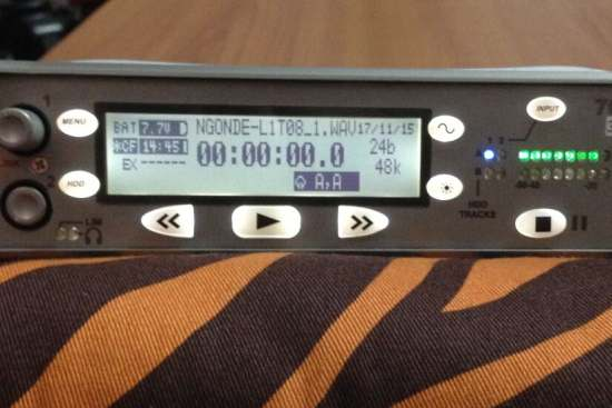<p>Recording!! The Ngonde file name displayed on the recorder screen.
