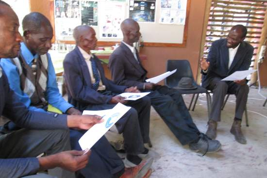 <p>Photo: Hambukushu pastors and chiefs from Namibia and Botswana