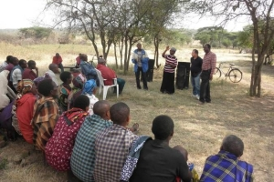 Anna introducing the GRN team at Dirma