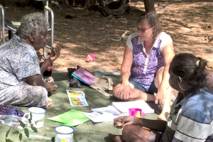 Glenys in Borroloola working on a new script