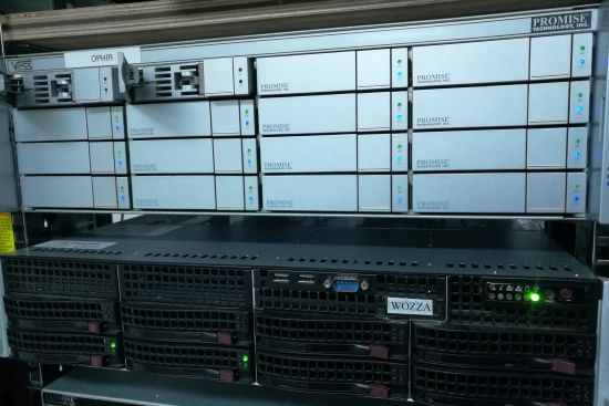 <p>Photo: It may not look exciting - but this is some of GRN's computing power and one of the storage arrays.