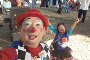 Clowning around for God - and ministering to migrant workers' children.