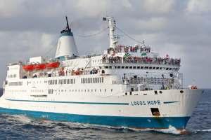 OM's ship - the Logos Hope