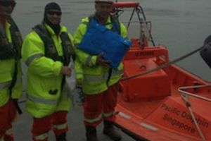 Perfect timing: a Seafarer delivers GRN materials