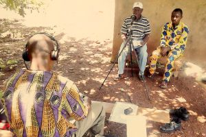 A recording session in Togo