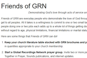 Friends of GRN