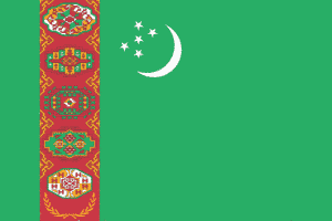 トルクメニスタン flag