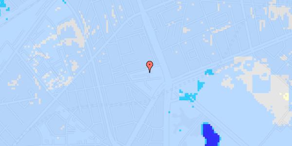 Ekstrem regn på Aldersrogade 6C, kl.