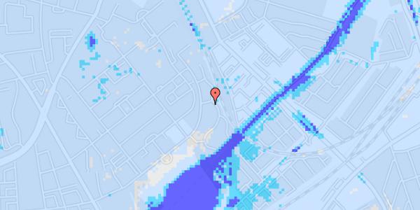 Ekstrem regn på Bispebjerg Bakke 18N, st. th