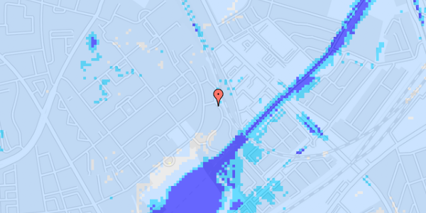 Ekstrem regn på Bispebjerg Bakke 18N, 1. th