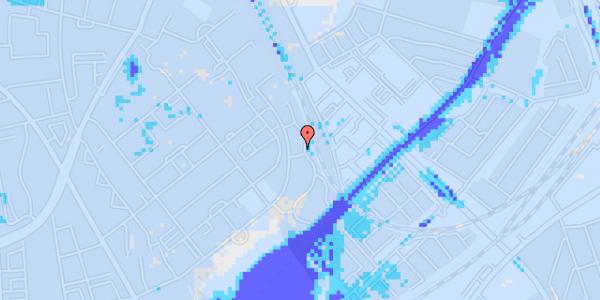 Ekstrem regn på Bispebjerg Bakke 22A, st. tv