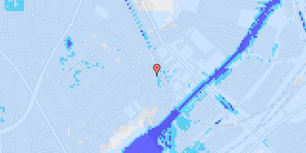 Ekstrem regn på Bispebjerg Bakke 22C, 1. tv