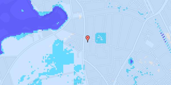 Ekstrem regn på Frederiksborgvej 154B, 1. th